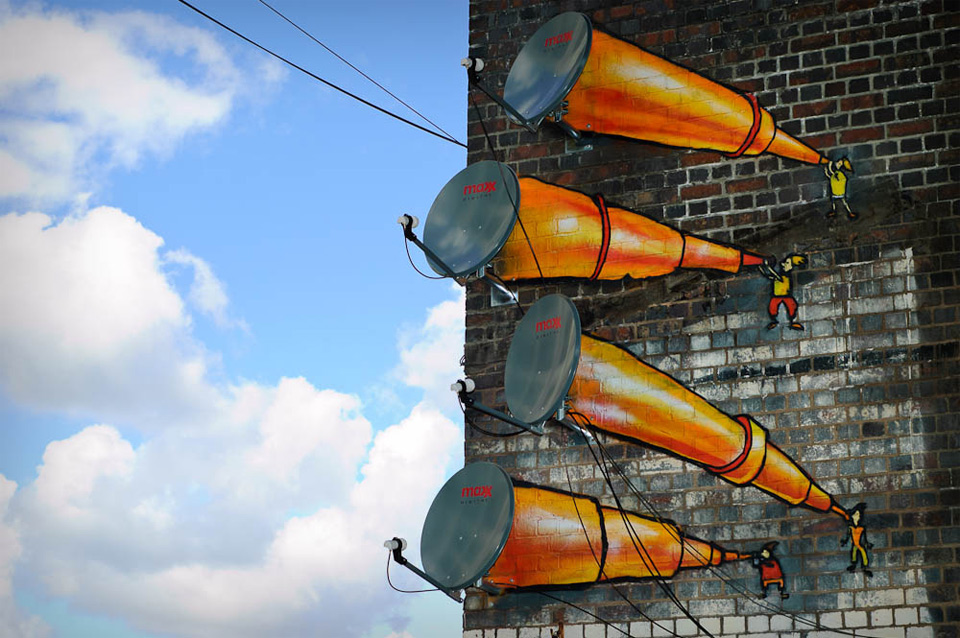 antenna telescopes street art