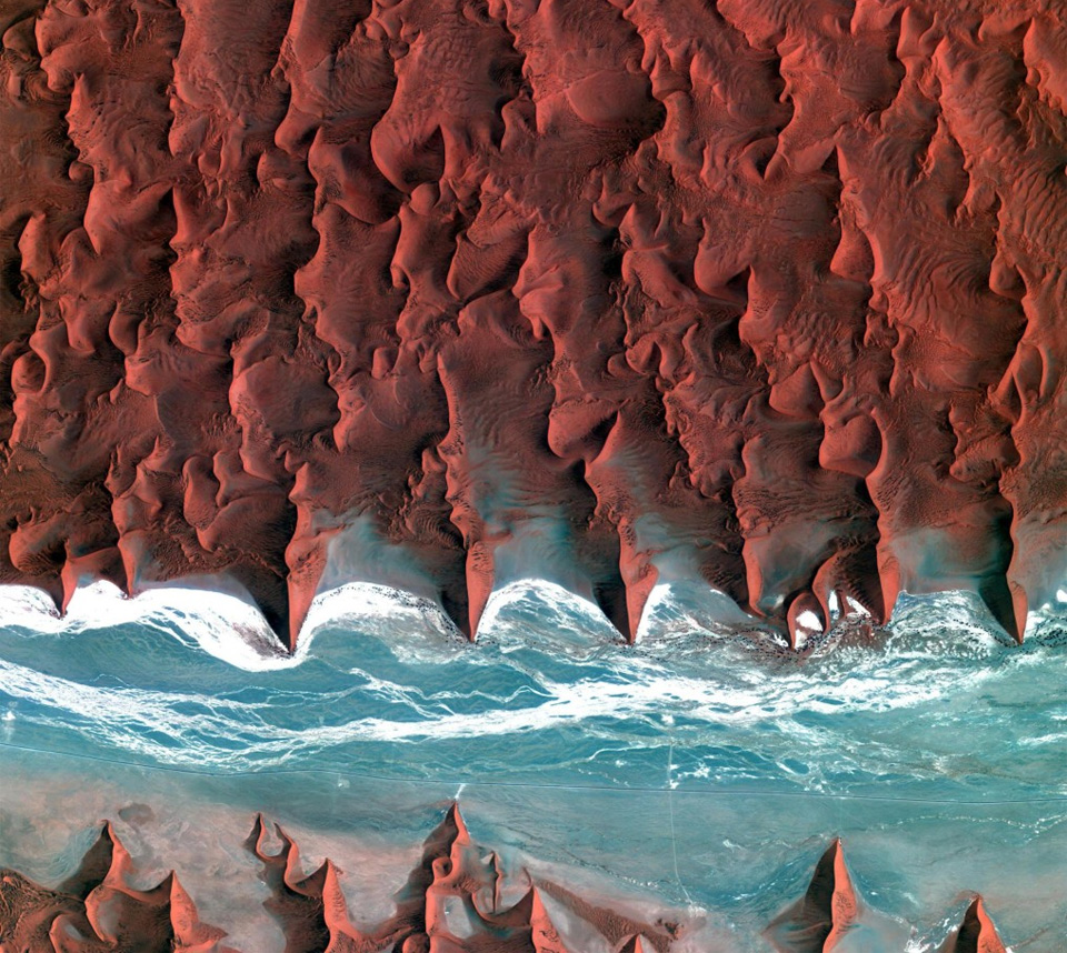 namib desert seen from space