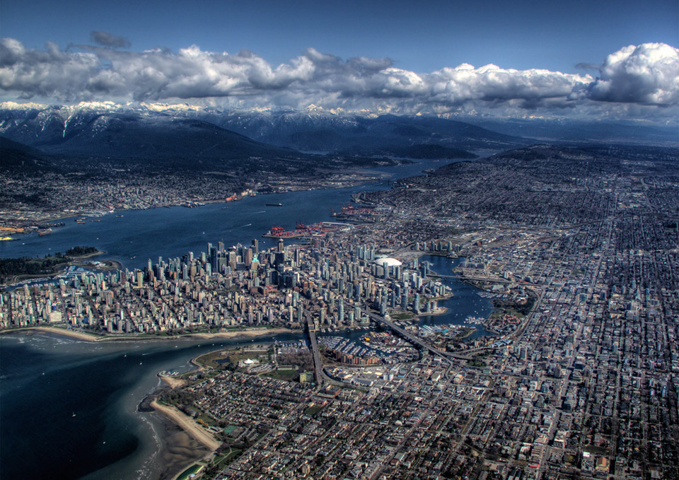 vancouver from above