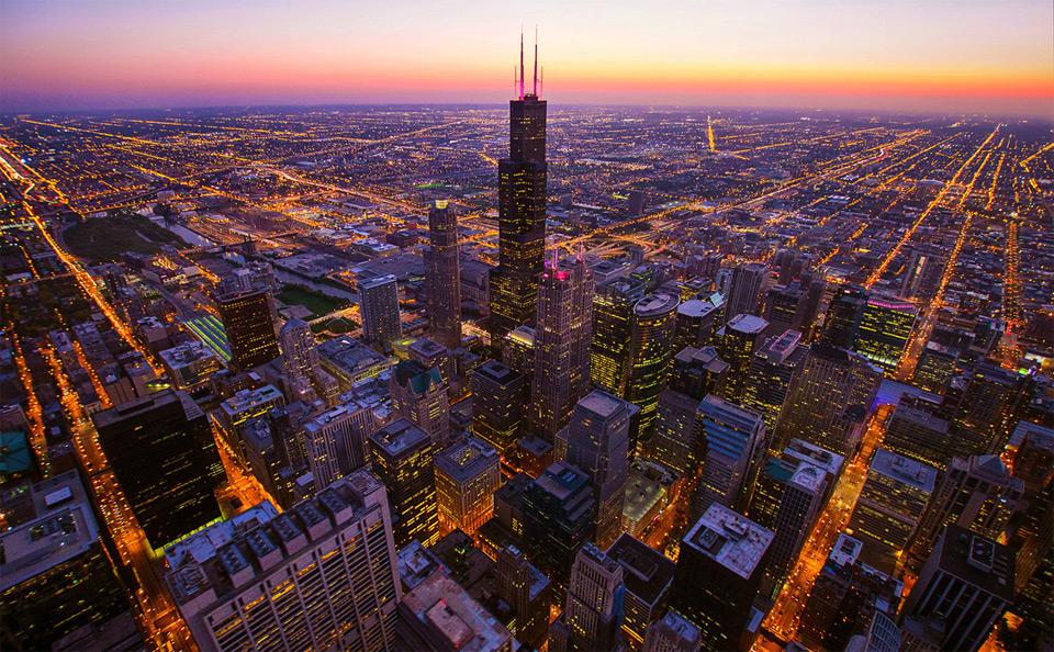 3,000 feet over chicago
