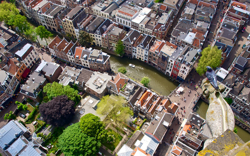 aerial view of utrecht, holland