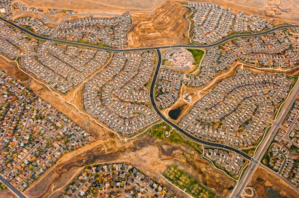 denver suburbs from above