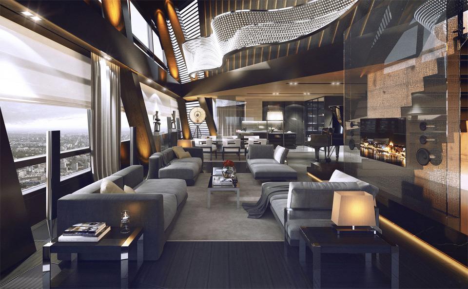 highrise penthouse interior