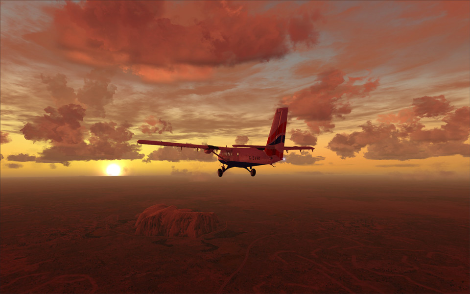morning flight over uluru, australia