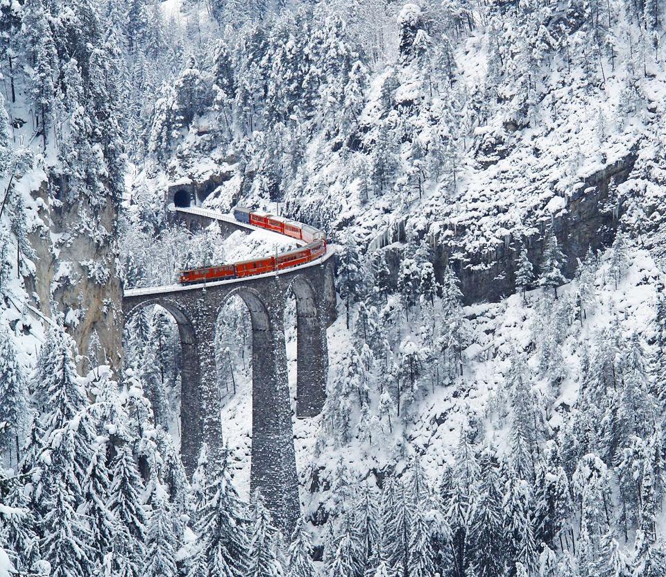 most amazing railway, switzerland