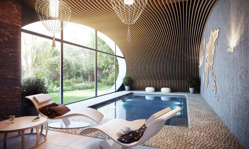 intimate indoor pool