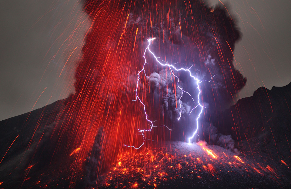 mount sakurajima volcano, japan