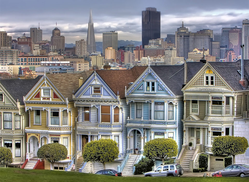 Victorian houses of san francisco photo one big photo for Houses in san francisco
