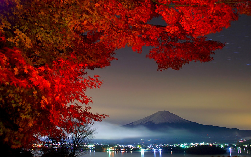 autumn in japan, mount fuji