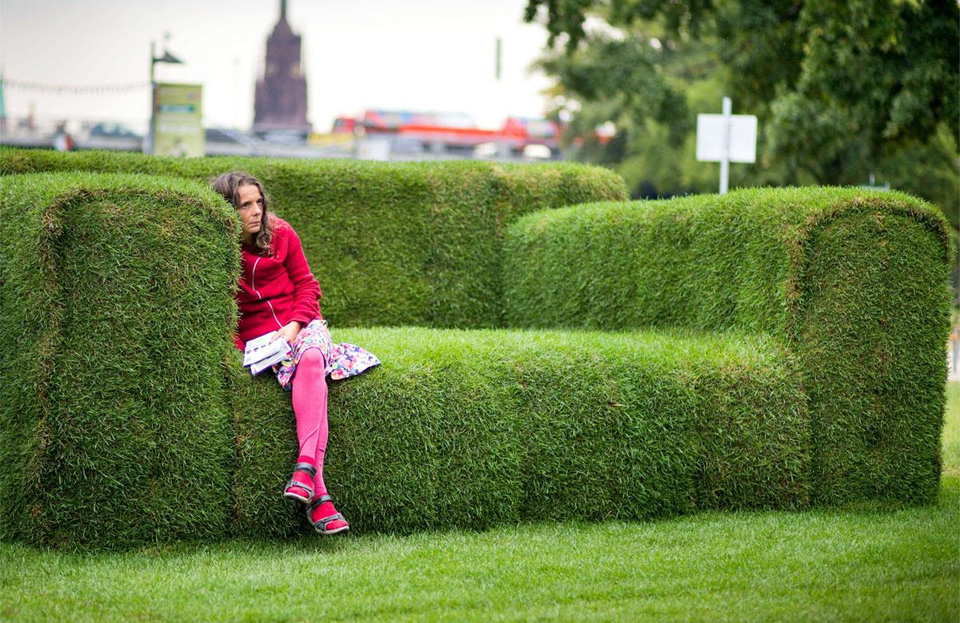 Sofas Frankfurt big grass sofa frankfurt germany photo one big photo
