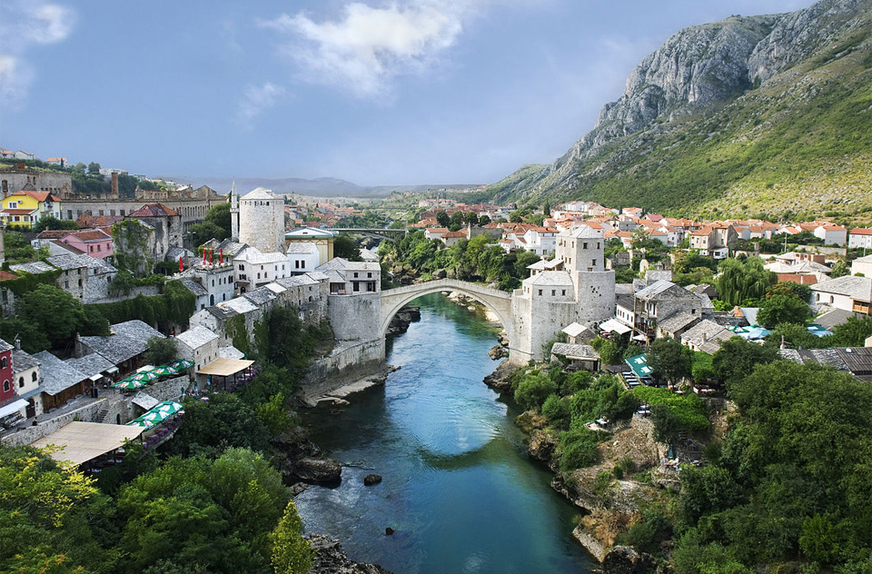 bridge of mostar, bosnia and herzegovina