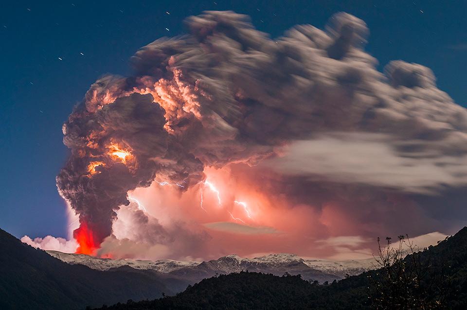 cordon caulle volcano eruption, chile