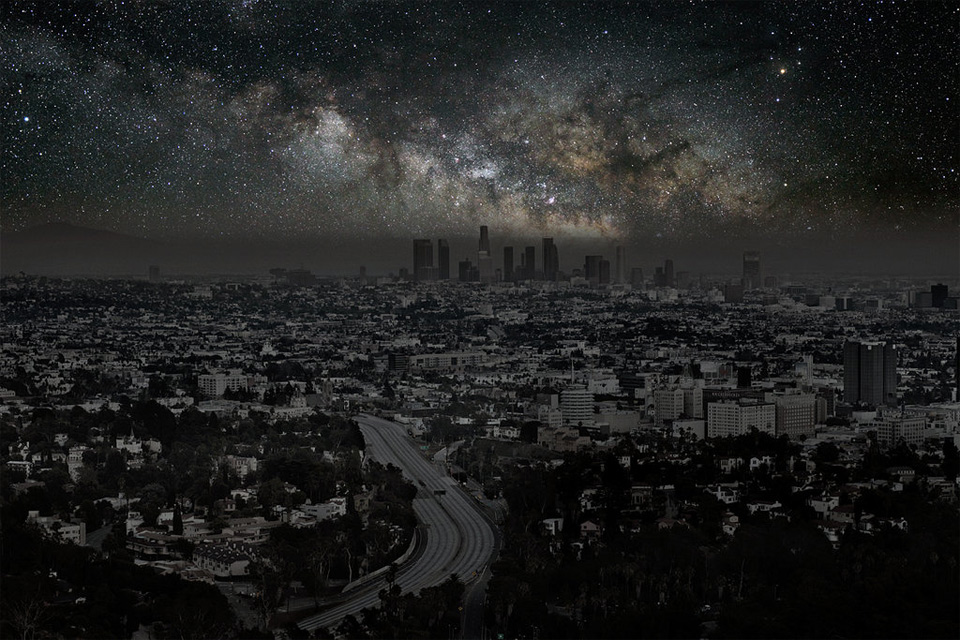 los angeles without light