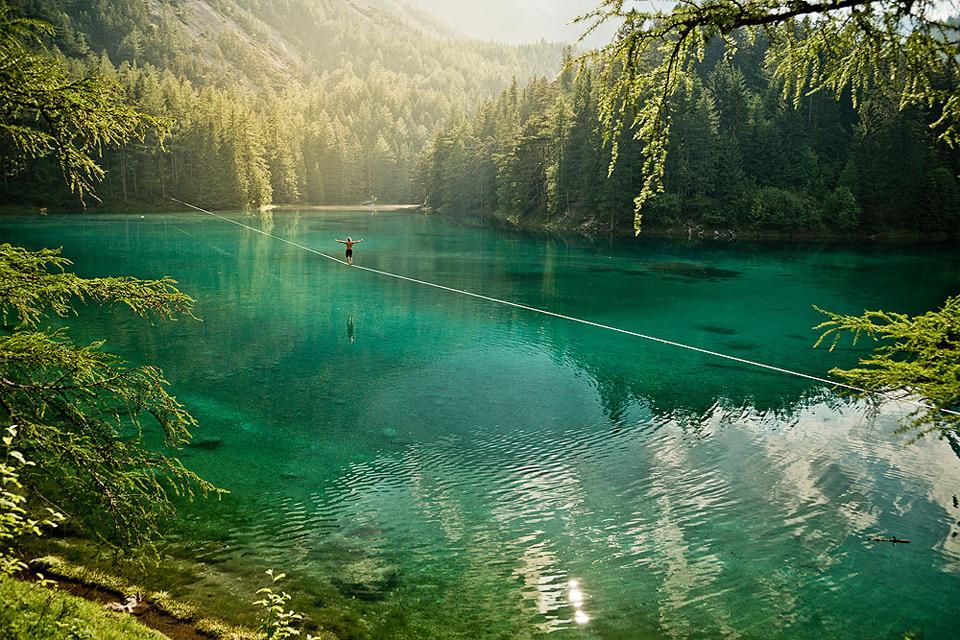 walking over water
