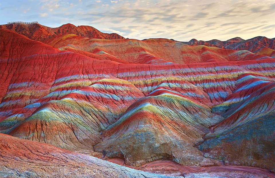 Image result for rainbow mountains china