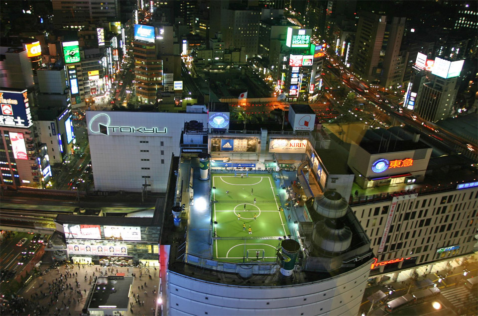 Soccer Field On Top Of Building, Tokyo Photo