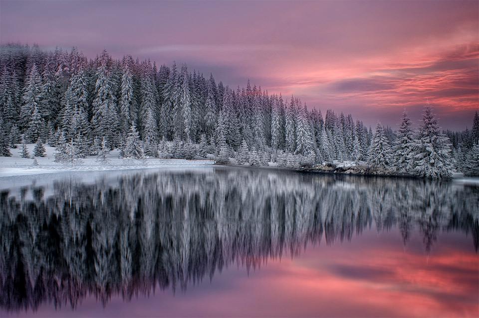 winter in rhodope mountains, bulgaria