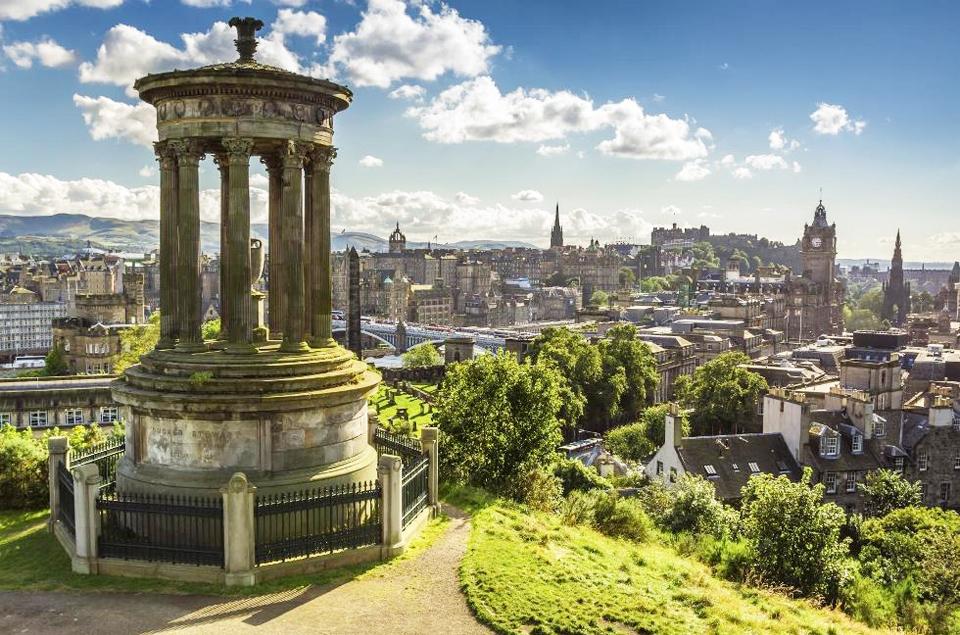 a view on edinburgh, scotland