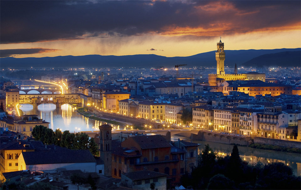 a view on florence, italy