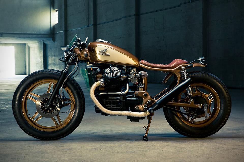 awesome customized motorcycle, honda cx500
