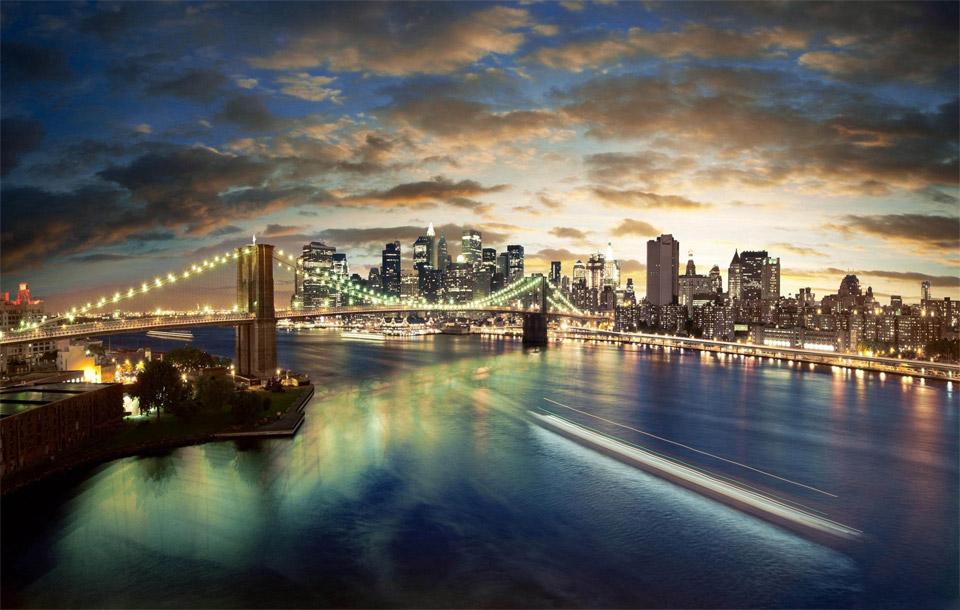 brooklyn bridge in HDR