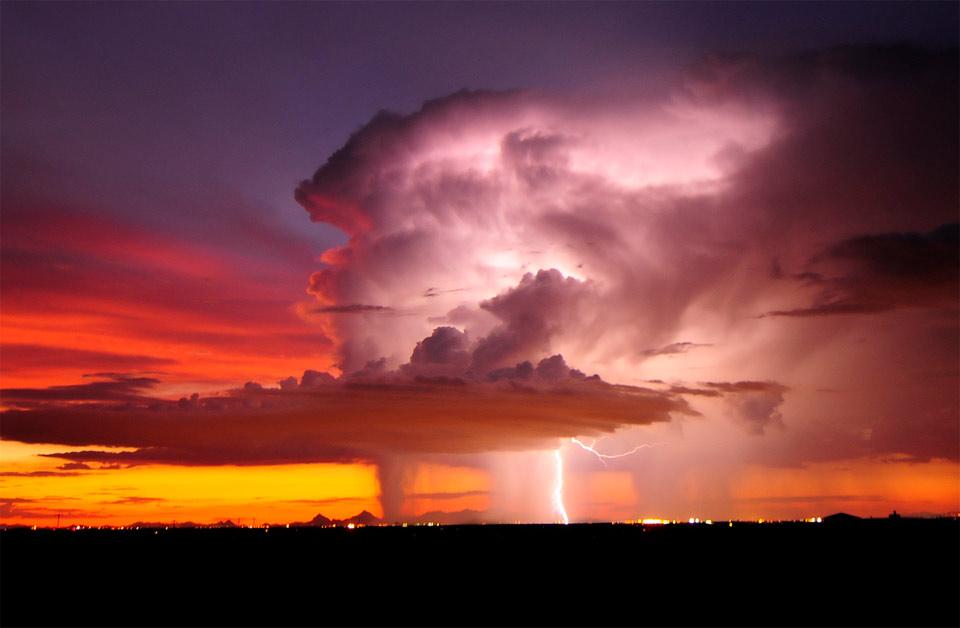 storm over tucson, arizona