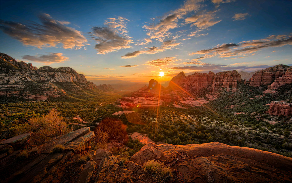 stunning view on schnebly hill, arizona