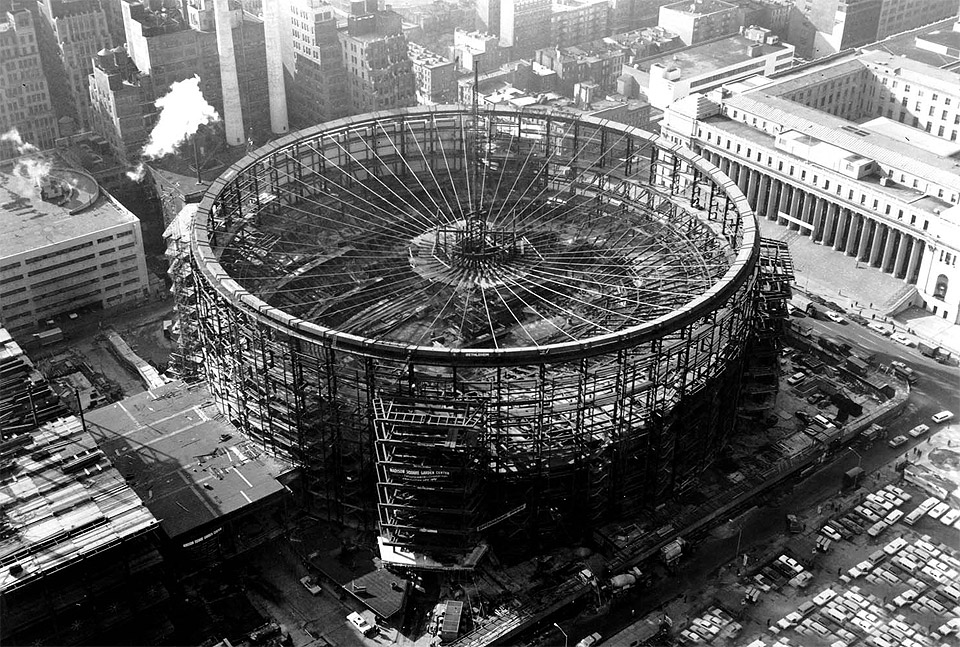 Construction Of Madison Square Garden New York 1966 Photo One Big Photo