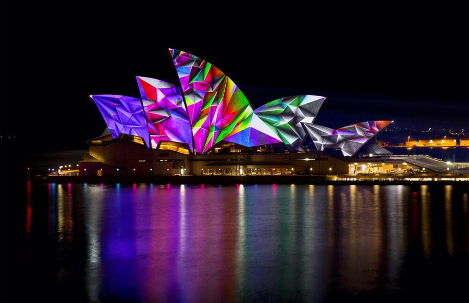light show on sydney opera house