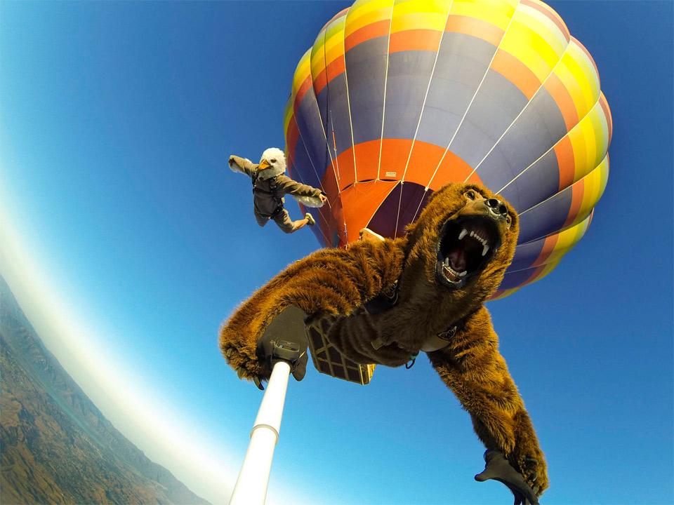 halloween skydiving selfie