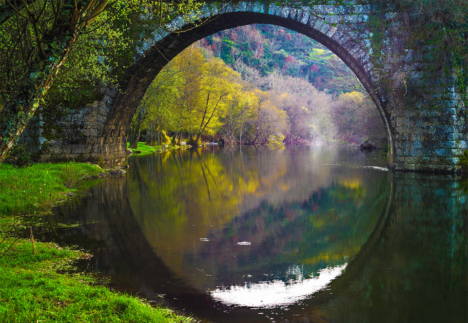 bridge reflection, portugal