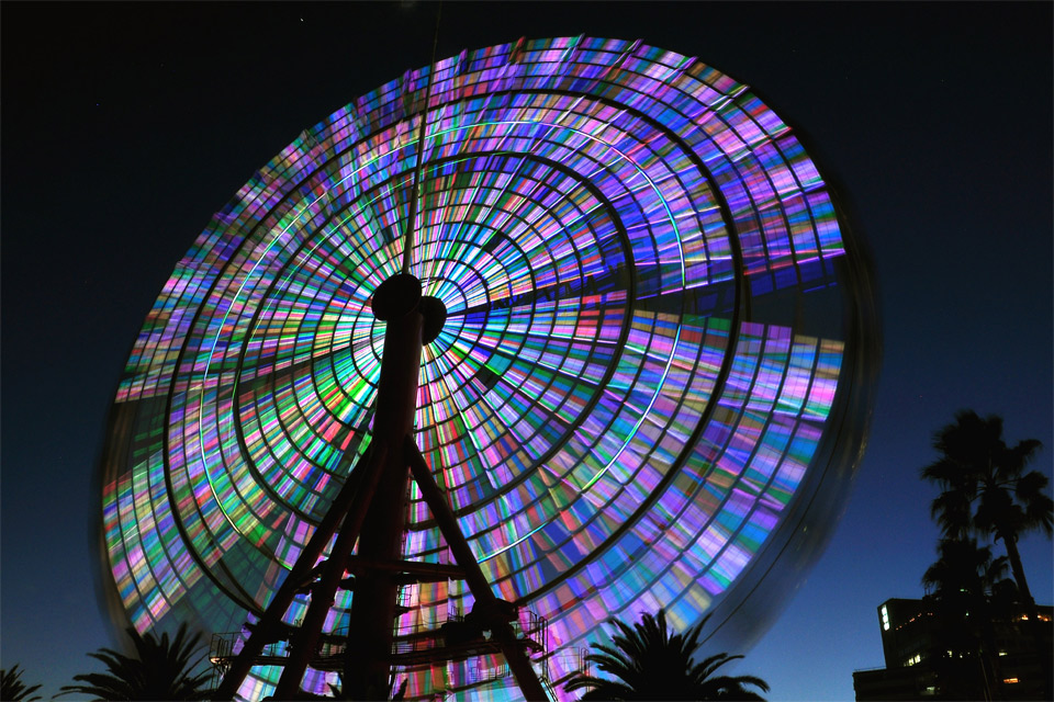 ferris wheel long exposure