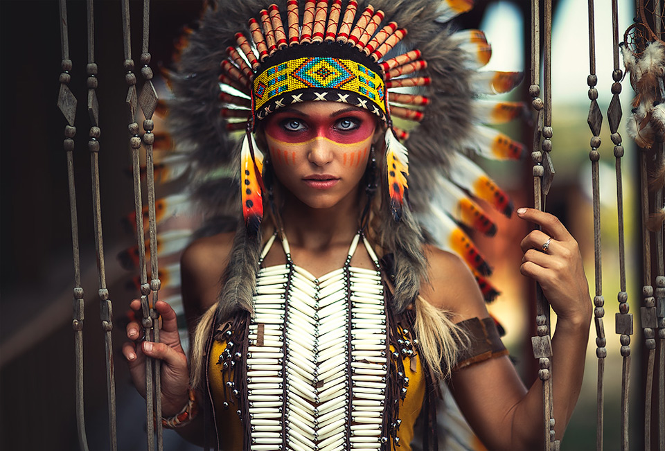 a-girl-in-indian-costume-and-makeup