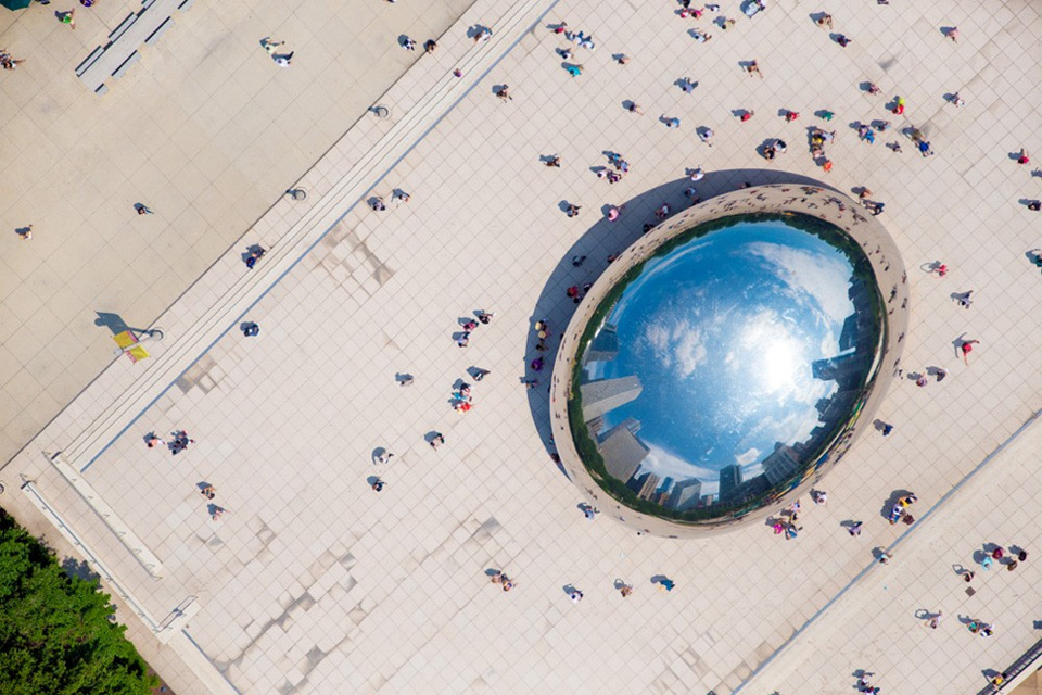 chicago bean from above