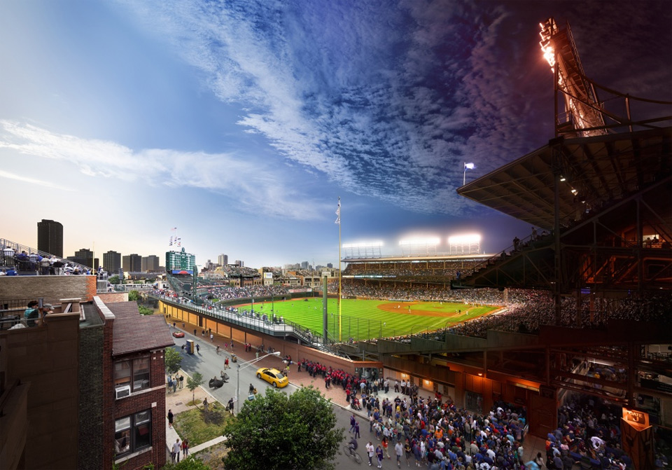 Wrigley Field, Chicago. Photo by: