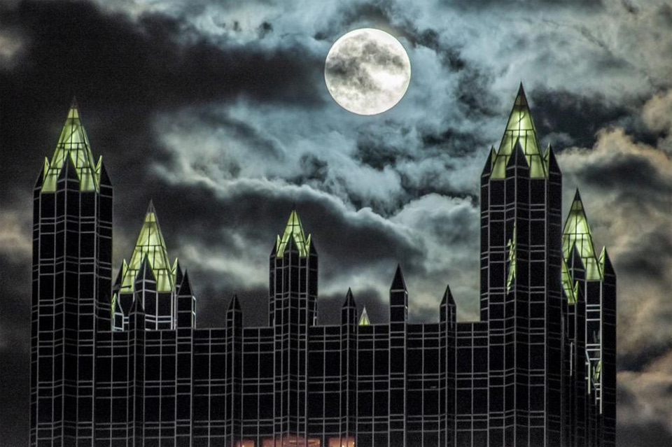supermoon over pittsburgh