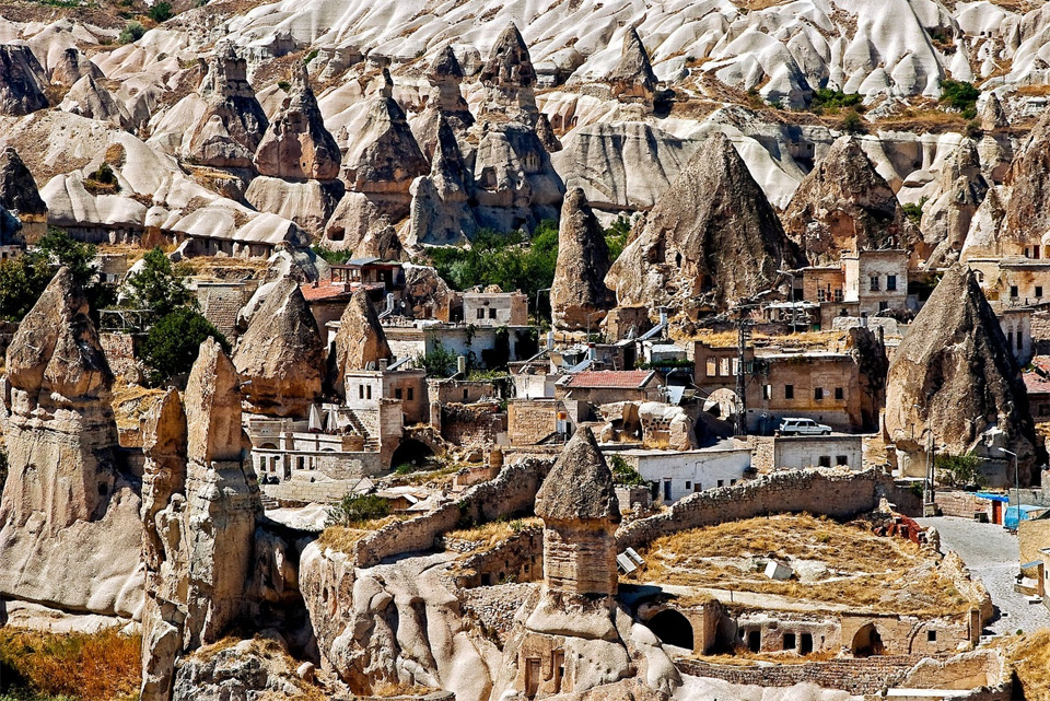 village in stones, cappadocia, turkey