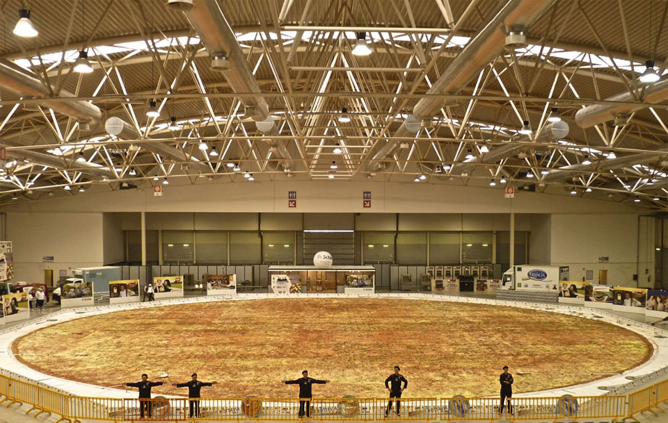 biggest pizza in the world