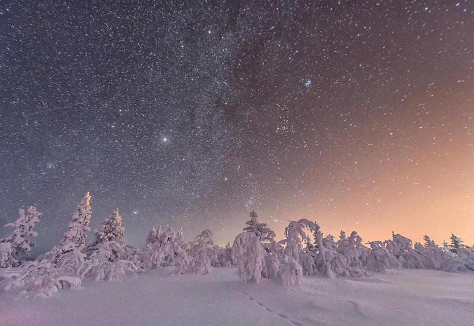 amazing winter night sky