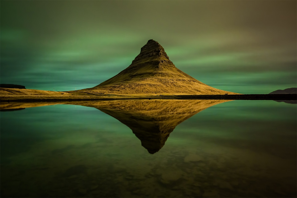 Northern Lights at Kirkjufell, Iceland