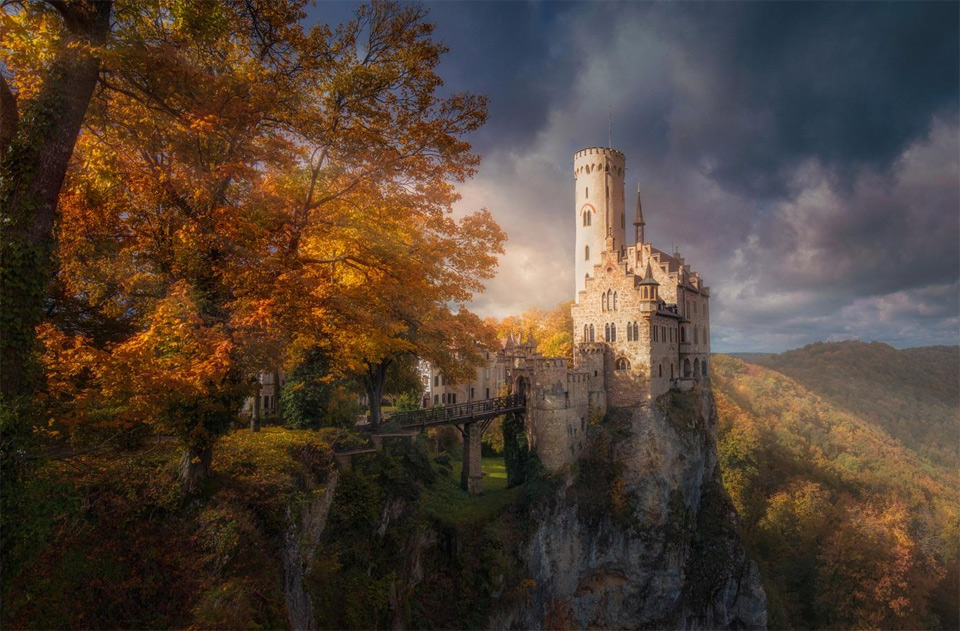 stunning scenery around lichtenstein castle
