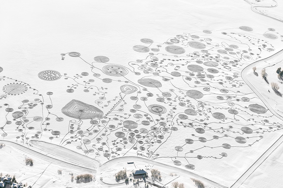 Art On The Frozen Lake, Colorado