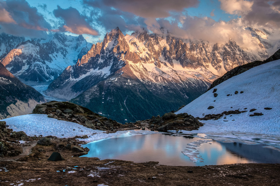 Lake In Chamonix-Mont-Blanc, France