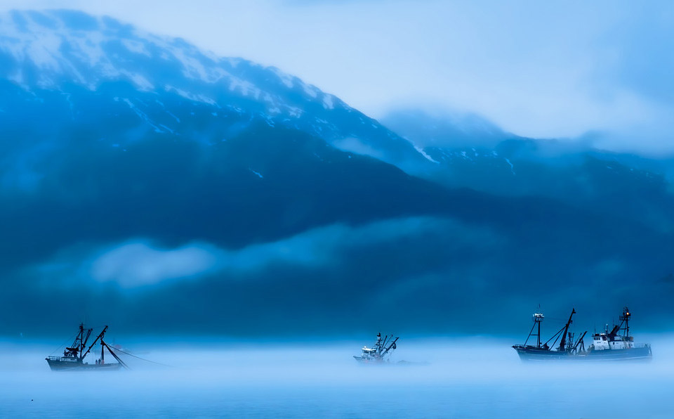Ships in Clouds, Alaska