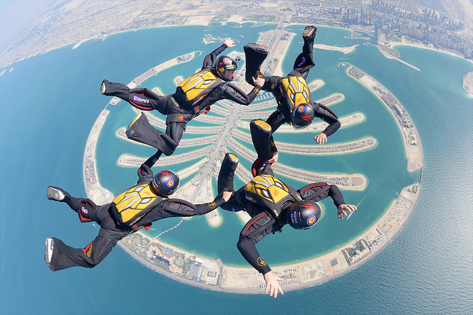 Skydiving Over Palm Jumeirah Dubai
