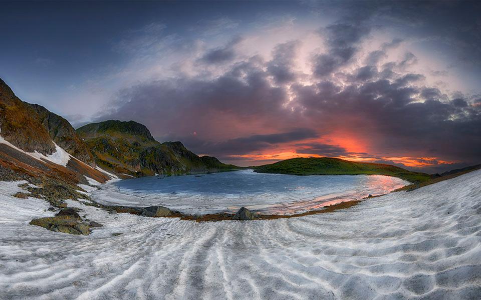 Sunrise in Rila Mountains, Bulgaria