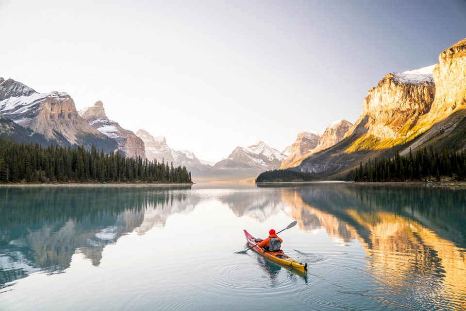 Kayaking In Alberta, Canada