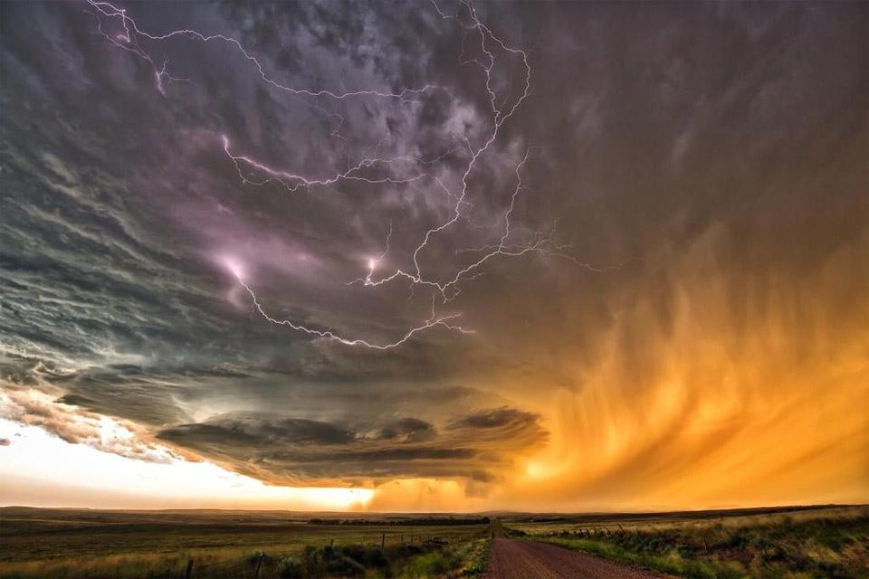 Thunderstorm Over Fields Of Nebraska