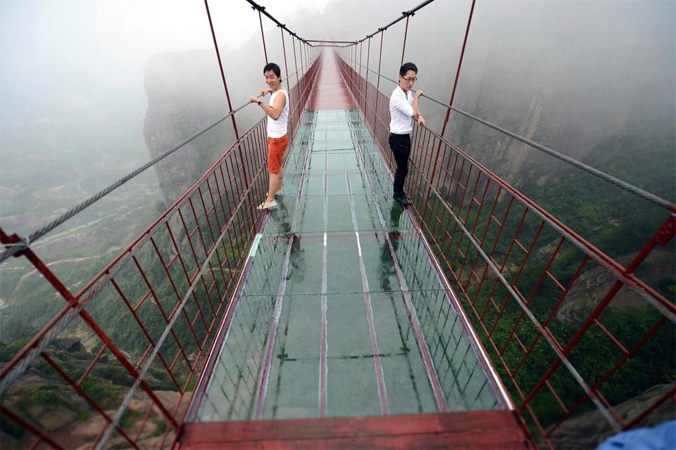 Transparent Bridge in China