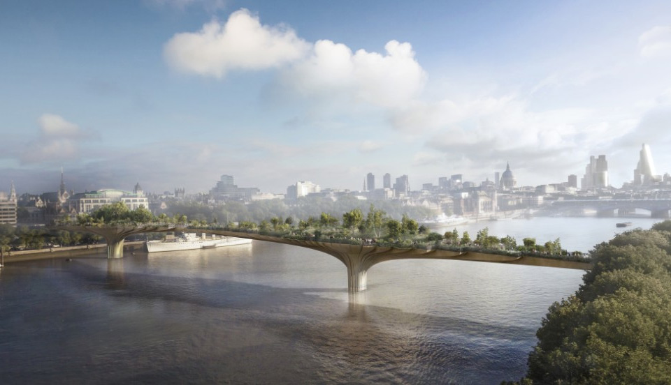 Worlds First Garden Bridge, London [CGI]